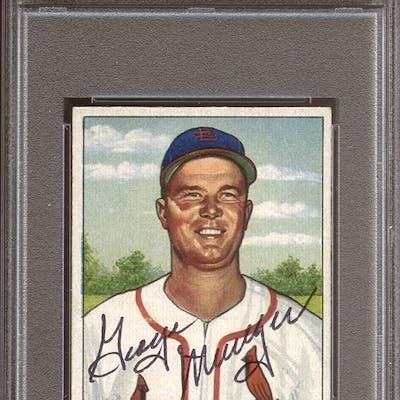 1950 Bowman #89 George Munger Autographed PSA/DNA AUTHENTIC