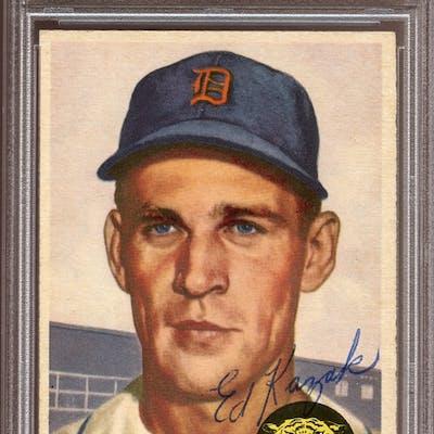 1953 Topps #194 Eddie Kazak Autographed PSA/DNA AUTHENTIC