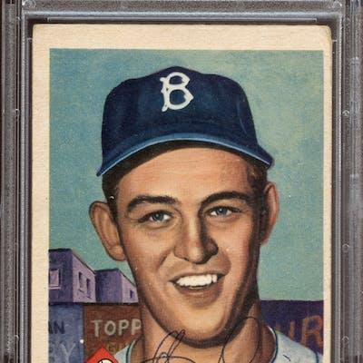 1953 Topps #14 Clem Labine Autographed PSA/DNA AUTHENTIC