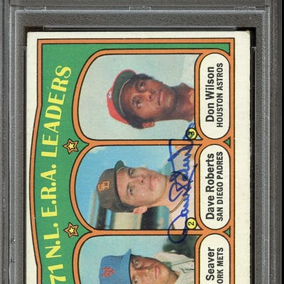 1972 Topps #91 Dave Roberts Autographed PSA/DNA AUTHENTIC