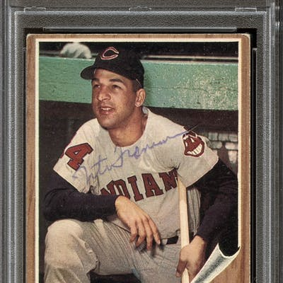 1962 Topps #97 Tito Francona Autographed PSA/DNA AUTHENTIC