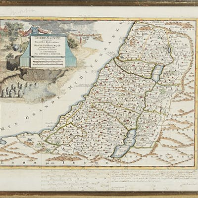 4 maps of the Holy Land 18th century