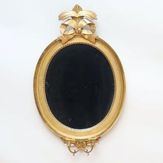 Spegellampett gustaviansk stil c.1900
