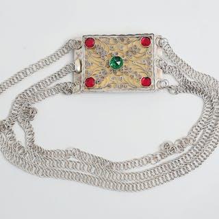 Dräktsmycke/halscollier allmogestil silver