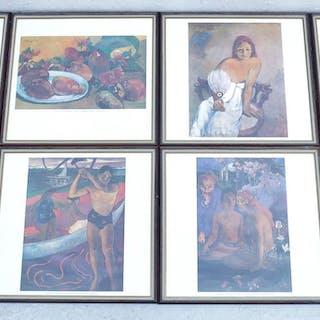 8 st Reproduktioner efter Paul Gauguin, 37x39