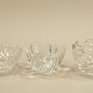 3 st kristallskålar Orrefors, bl.a Bengt Edenfalk, Orrefors