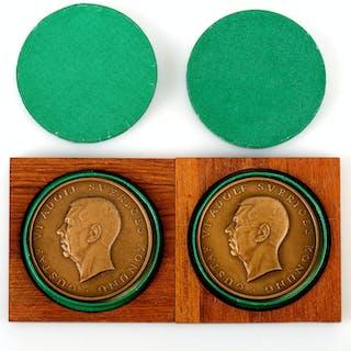 MEDALJER, 2 st, brons, Sporrong & Co, Stockholm