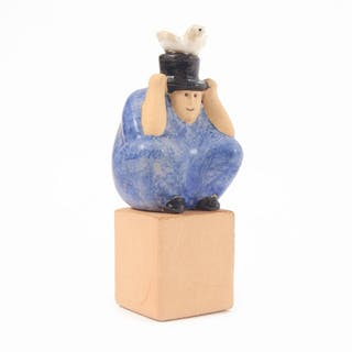 "Figurin, ""Trollkarl"", Lisa Larson, Gustavsberg K-Studio"