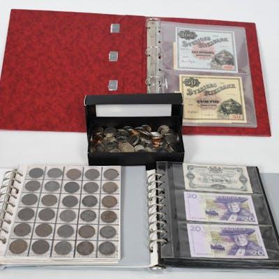 Mynt och äldre sedlar