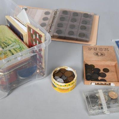 Mynt, sedlar, samt medaljer