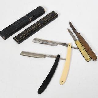 Äldre fäll- samt rakknivar
