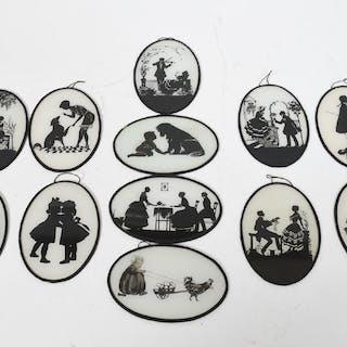 Siluett tavlor, tidigt 1900-tal