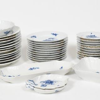 """Matservis, """"Blå Blomster"""", Royal Copenhagen"""
