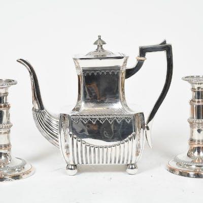 Empirljusstakar och kanna, 1800-tal