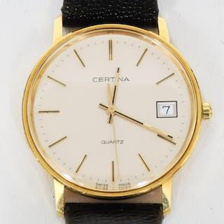 Armbandsur, Certina 18-k guld