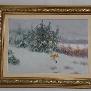 Henning Hougaard Oljemålning