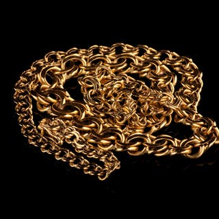 COLLIER, guld, 18K, bismarck, Ceson, M9 (1962)