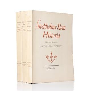 STOCKHOLMS SLOTTS HISTORIA, 3 volymer, Martin Olsson osv.