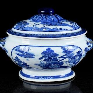 Soppterrin med lock Kina Qing 1800-tal