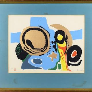 Edlef Romeny 1926-2017 Färglitografi