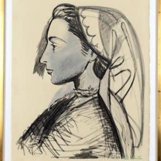 Pablo Picasso 1881-1973 Färglitografi (Efter)