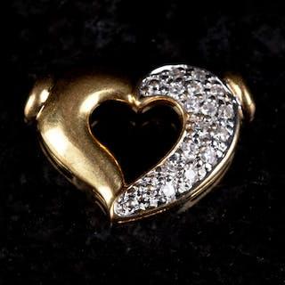 Hängsmycke 18K Guld med diamanter 1900-tal