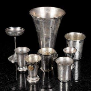 Samling Pokaler & Bägare Silver 1900-tal (8st)