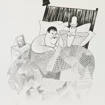 Laurel and Hardy, Al Hirschfeld | Rue Royale Fine Art