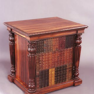 George IV period goncalo alvez library folio cabinet by Gillows