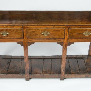 18th century Charming Oak Potboard Dresser.