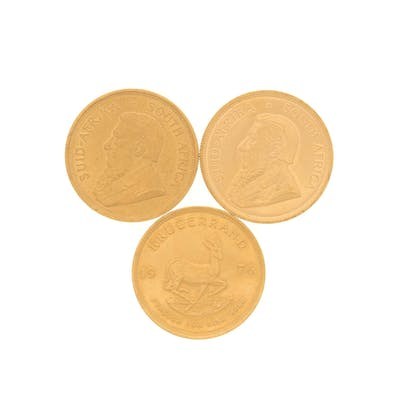 COINS:[3] 1976 South African 1 oz gold Krugerrand