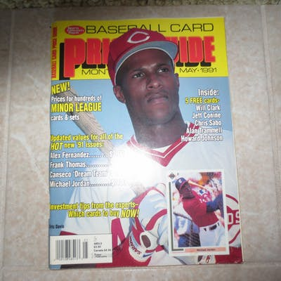 1991 Sports Collectors Digest Baseball Card Price Guide Monthly