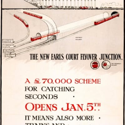 LT New Earls Court Flyover Junction London Underground