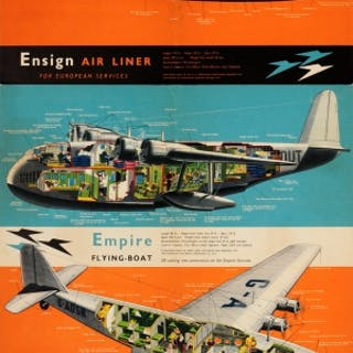 Imperial Airways Ensign Air Liner Empire Flying Boat