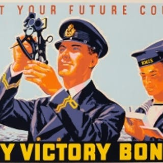 Plot Your Future Course Buy Victory Bonds WWII