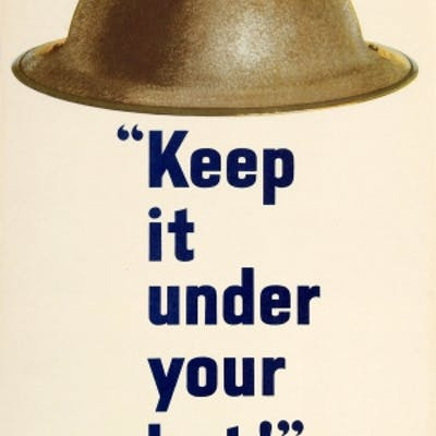 Keep it Under Your Hat Careless Talk Costs Lives WWII