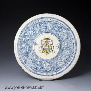 Italian Renaissance period maiolica dish with the mark of Virgiliotto
