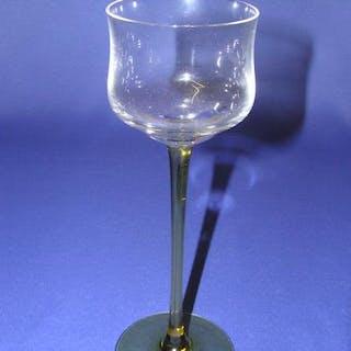 Lang-stieliges Jugendstil Wein-Glas