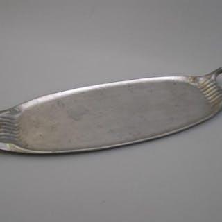 Hugo Leven (1874-1956) attr.: Jugendstil Zinn-Schale, Kayserzinn