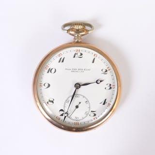 Herren-Taschenuhr, um 1900, 800er Silber, Jules van der Elst / Bruxelles