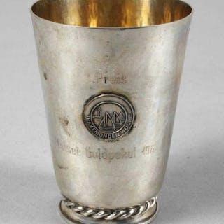 Preispokal, 835er Silber, vergoldet, datiert 1963