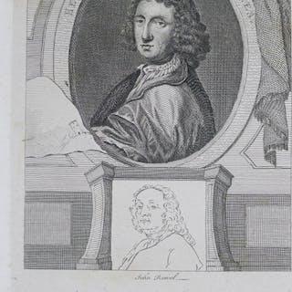 """John Ronel attr.: Graphik - Kupferstich, """"Künstler-Porträt Henry Gyles"""""""