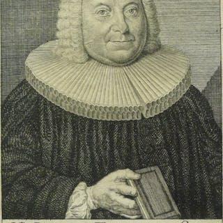 """Graphik - Kupferstich: Bildnis """"Johann Friedrich Stoy"""", 18. Jahrhundert"""