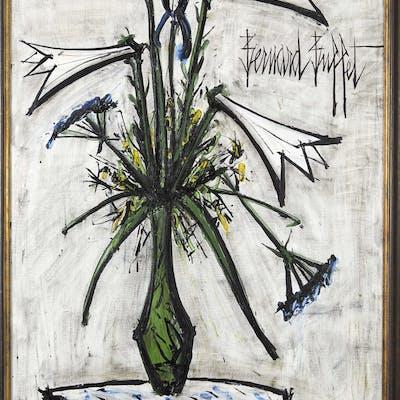 Bernard BUFFET, Bernard BUFFET 1928- 1999 Lys et iris dans un vase