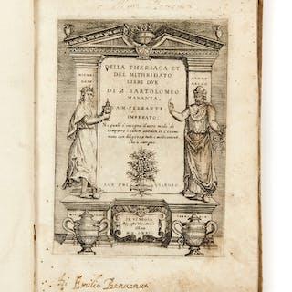 Bartolomeo MARANTA, Bartolomeo MARANTA 1500-1571 Della theriaca et