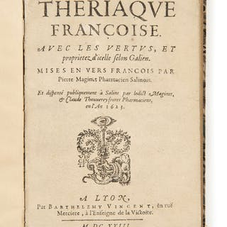 Pierre MAGINET, Pierre MAGINET XVIIe siècle La Thériaque françoise