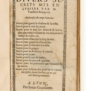 Toussaint BOURGEOIS, Toussaint BOURGEOIS XVIe-XVIIe siècle Divers