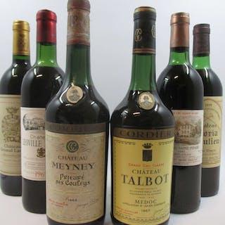 9 bouteilles 2 bts : CHÂTEAU TALBOT 1967 4è GC Saint Julien (1 à 5