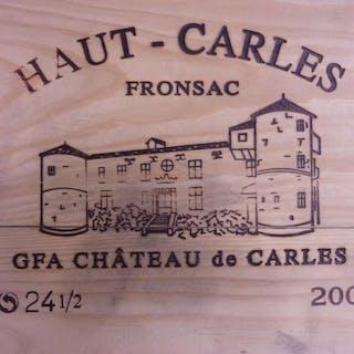 24 demi bouteilles CHÂTEAU HAUT CARLES 2002 Fronsac