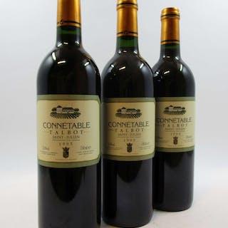 12 bouteilles CONNETABLE TALBOT 1995 Saint Julien
